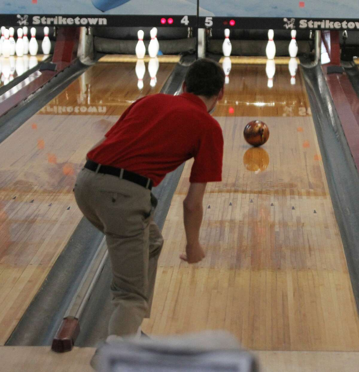 The Manistee Catholic Central bowling team hosted fellow West Michigan D League members in its first-ever home matchat Manistee's Striketown on Saturday.