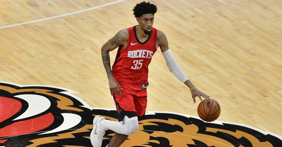 Houston Rockets center Christian Wood (35) plays in the second half of an NBA basketball game against the Memphis Grizzlies Thursday, Feb. 4, 2021, in Memphis, Tenn. (AP Photo/Brandon Dill)