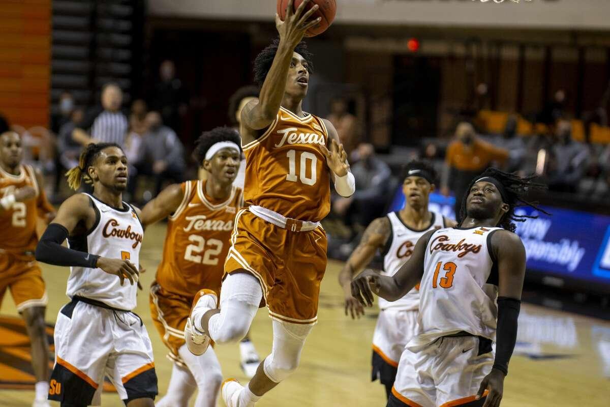 Texas guard Donovan Williams (10) plans to transfer to UNLV. (AP Photo/Mitch Alcala)