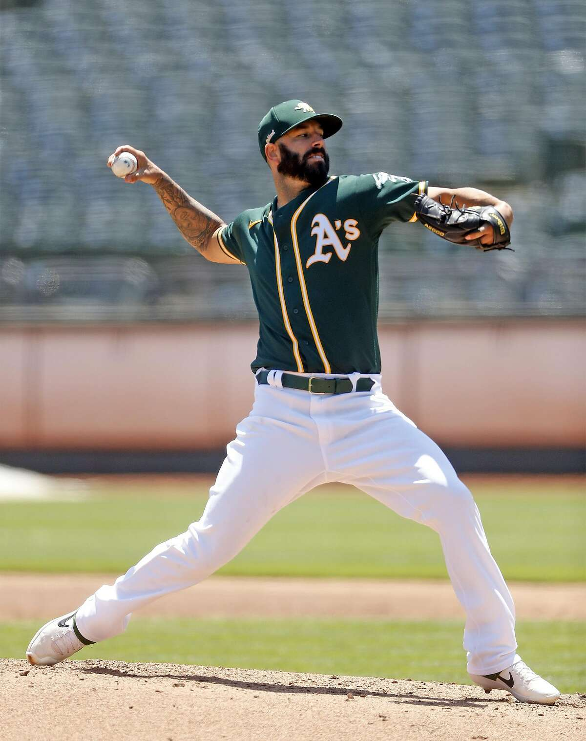 Starting pitcher Mike Fiers is 26-9 with a 4.00 ERA in his two-plus years with the A's. He's 75-62 in his big-league career.