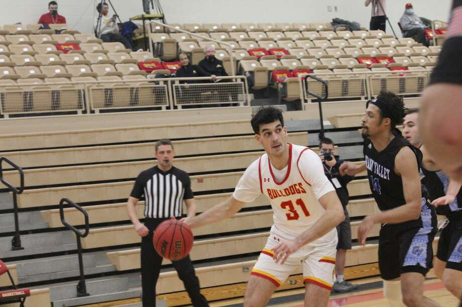 Grand Valley got the upper hand on Saturday with a 70-51 win over Ferris State's men's basketball team Photo: John Raffel