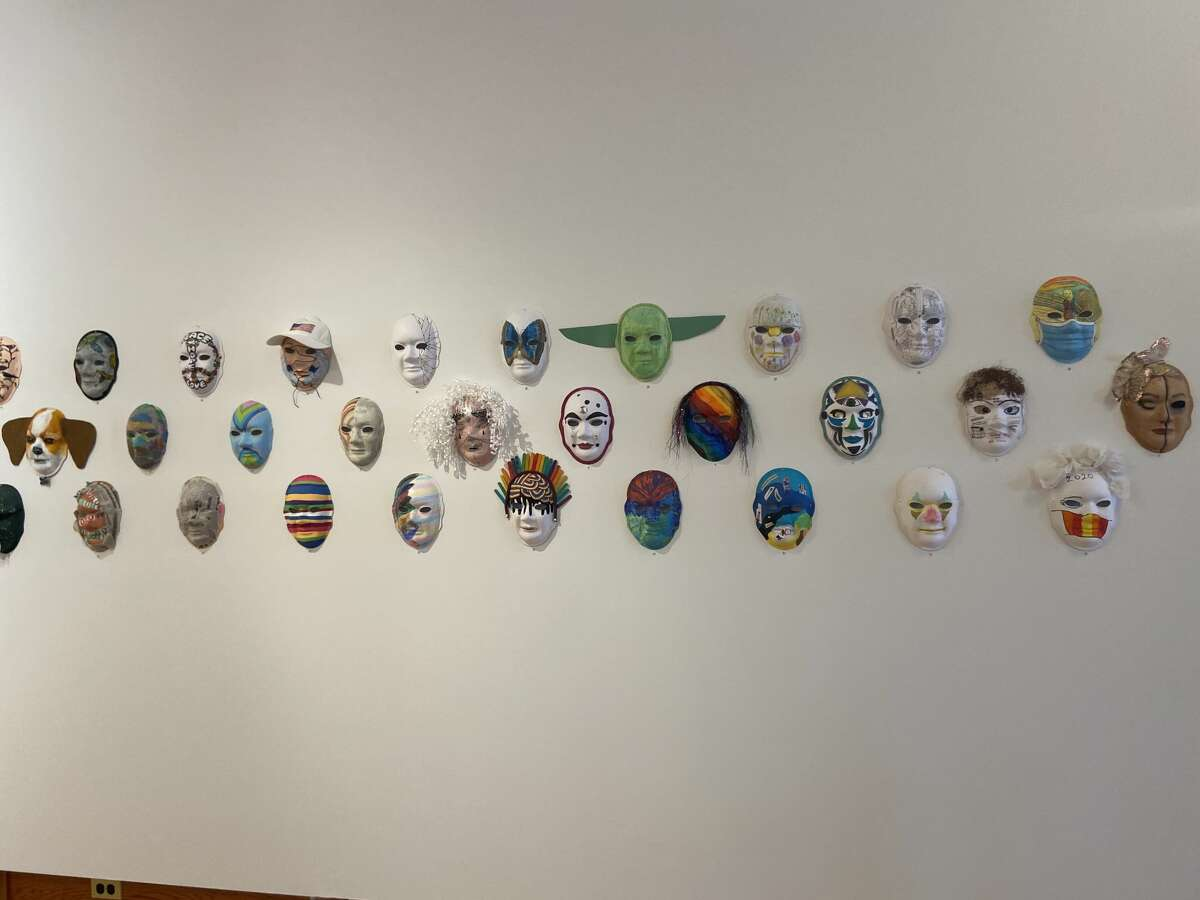 The Stay Safe Face Mask Exhibit at Hardy Hall at the Ramsdell Regional Center for the Arts drew 17 people on its opening day, Feb. 5.