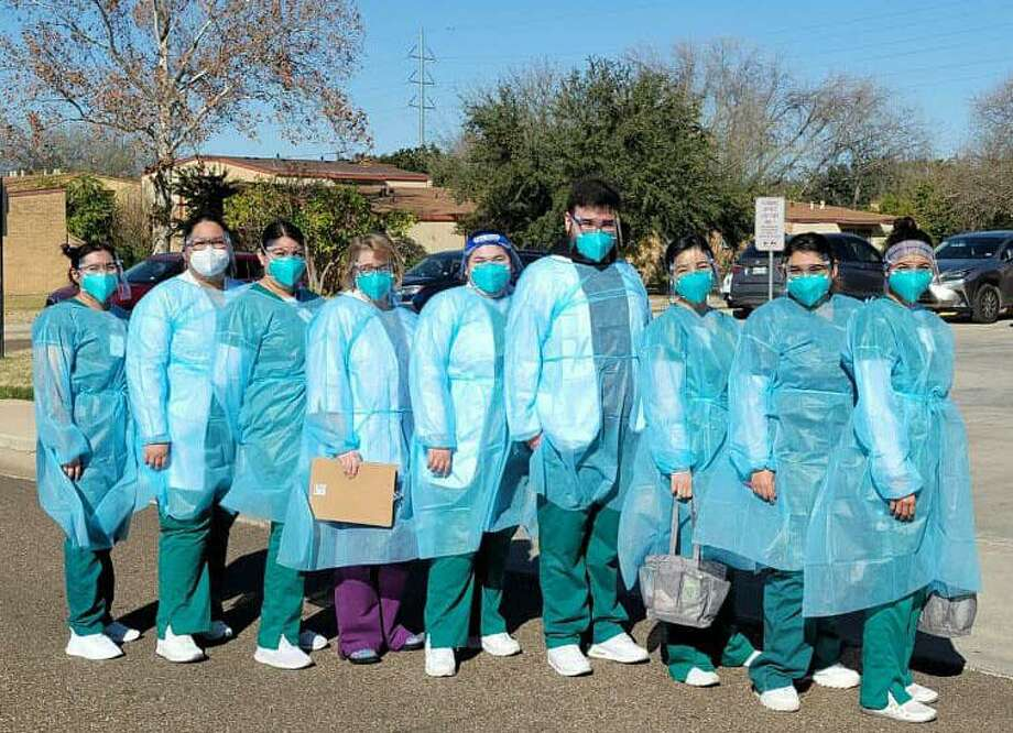 Associate Degree in Nursing (ADN) Program students and their instructor Melissa Guidry as well as some of our Bachelor of Science in Nursing (BSN) Program students assisted the Laredo Fire Department with a COVID-19 vaccination event at Villa San Luis, which was specifically for residents who could not travel to get vaccinated. Photo: /