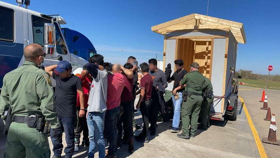 U.S. Border Patrol agents discovered 10 individuals inside a shed. All were immigrants who had crossed the border illegally. Photo: Courtesy Photo /U.S. Border Patrol