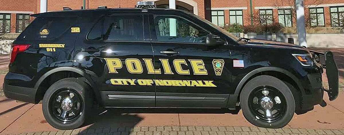 A file photo of a Norwalk, Conn., police cruiser. City police arrested Tyrome Sawyer back in April 2019 after they served a search warrant at his apartment and found a loaded rifle with an obliterated serial number.