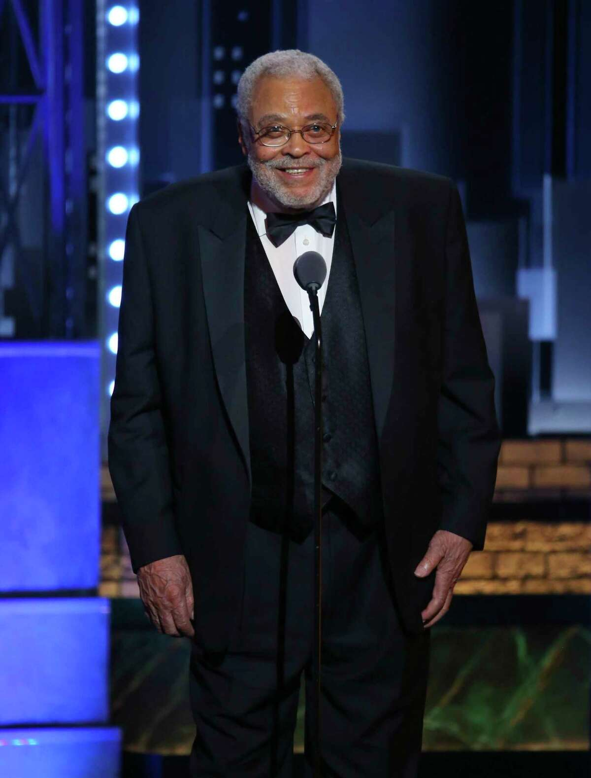 James Earl Jones accepts the special Tony award for Lifetime Achievement in the Theatre at the 71st annual Tony Awards on June 11, 2017, in New York. Jones turned 90 on Jan. 17. (Photo by Michael Zorn/Invision/AP, File)