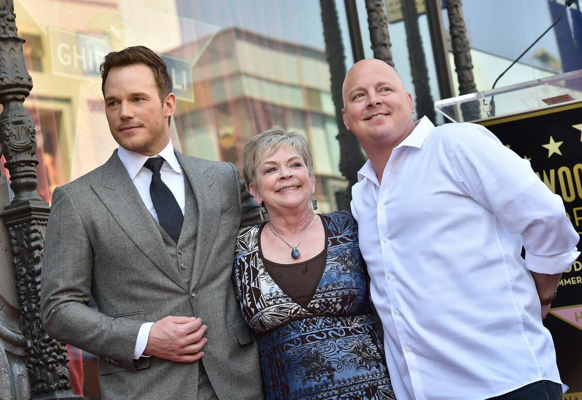 Actor Chris Pratt, mom Kathy Pratt and brother Cully Pratt attend the ceremony honoring Chris Pratt with a star on the Hollywood Walk of Fame on April 21, 2017 in Hollywood, California.