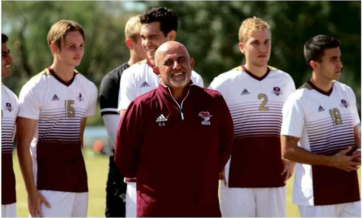 TAMIU head coach Claudio Arias has led the men's soccer team since 2004 and has been a part of five of the program's seven league titles.