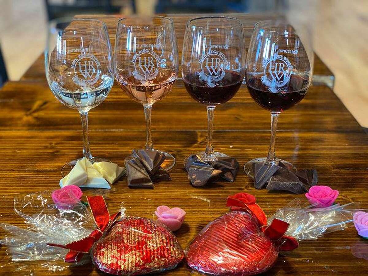 Hawk Ridge Winery hosts chocolate and wine tastings throughout Valentine's Day weekend.