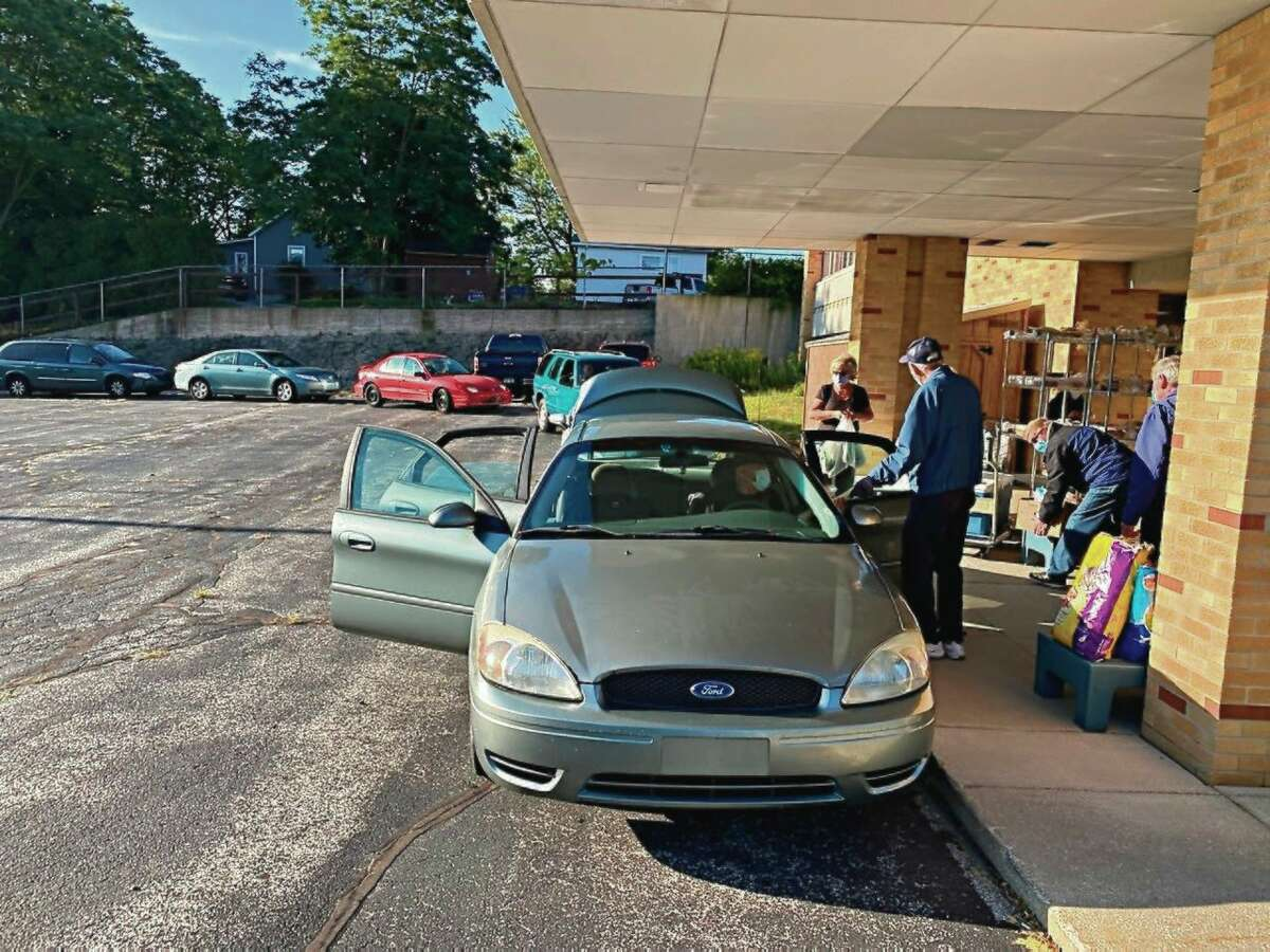 On Feb. 12, the Matthew 25:35 Food Pantry, located at St. Joseph Parish Center, 254 Sixth St., will distribute groceries to all registered shoppers in the parking lot. Due to COVID-19, the pantryhas continued the grocery distribution as a drive-thru.(Courtesy photo)