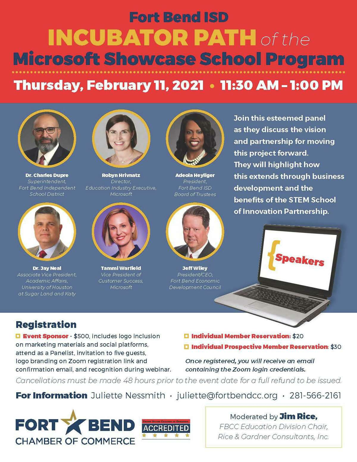 The Education Division of Fort Bend Chamber of Commerce is hosting a virtual panel on Thursday Feb. 11.