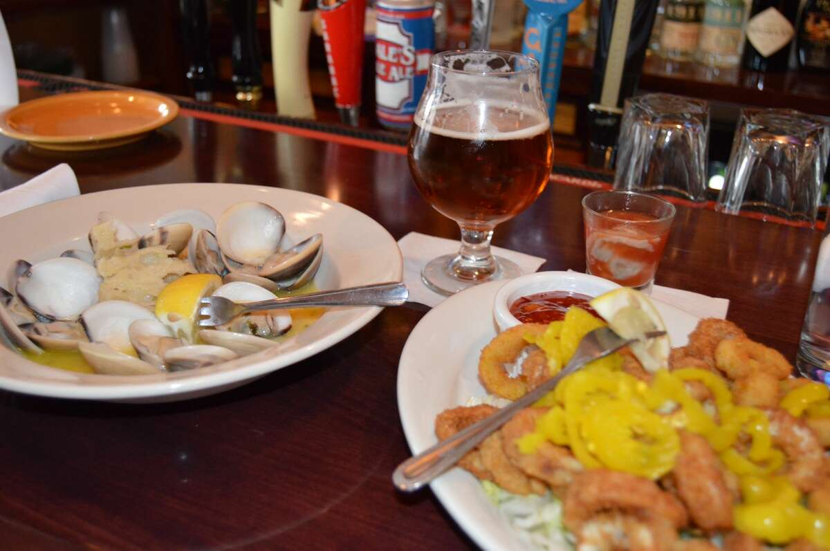 Calamari and oysters at the Blue Water Grill in Skaneateles.