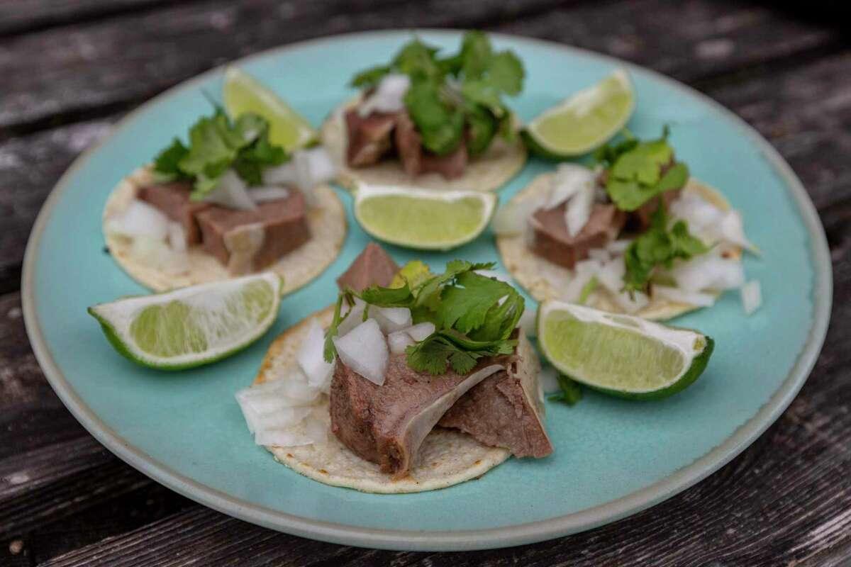 Slow Cooker Beef Tongue (Lengua) Street Tacos