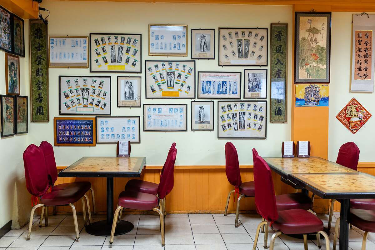 Photographs of Chinatown beauty queens hang on the walls of San Francisco's Hang Ah Tea Room, the country's oldest dim sum restaurant.