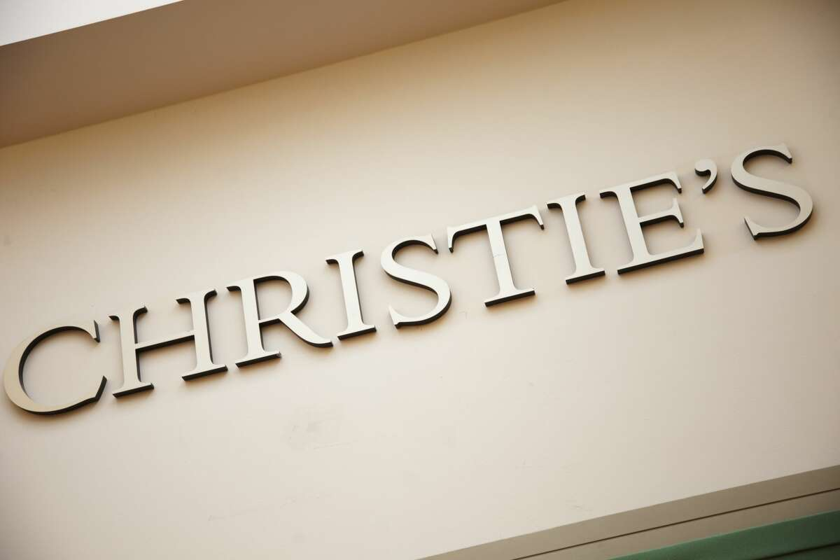 London, UK. Friday 23rd November 2012. Christies auction house sign. (Photo by In Pictures Ltd./Corbis via Getty Images)