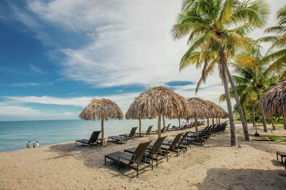 Beach amenities at The Buenaventura Golf and Beach Resort.