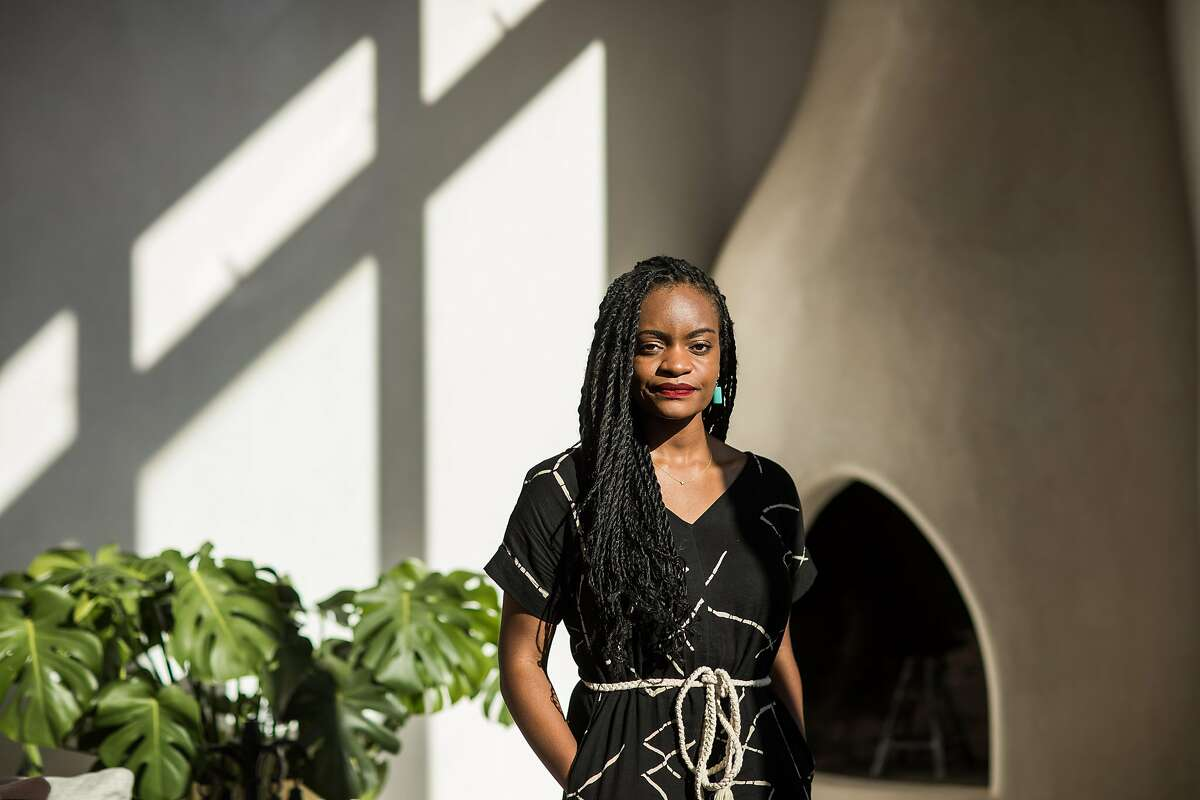 Ifeoma Ozoma at her home in Santa Fe, New Mexico, USA, on February 8, 2021.