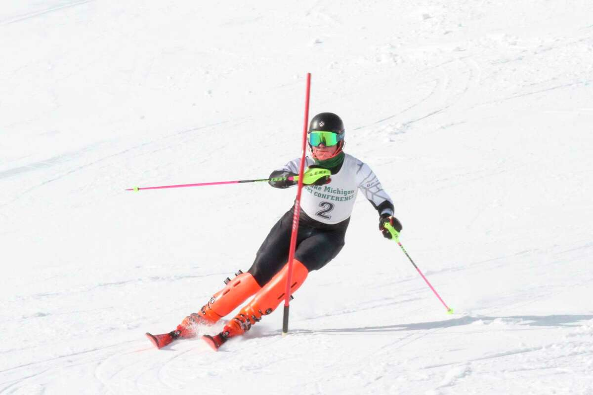 A flawless slalom run led to a regional championship in the event for Onekama's Kylar Thomas. (News Advocate file photo)