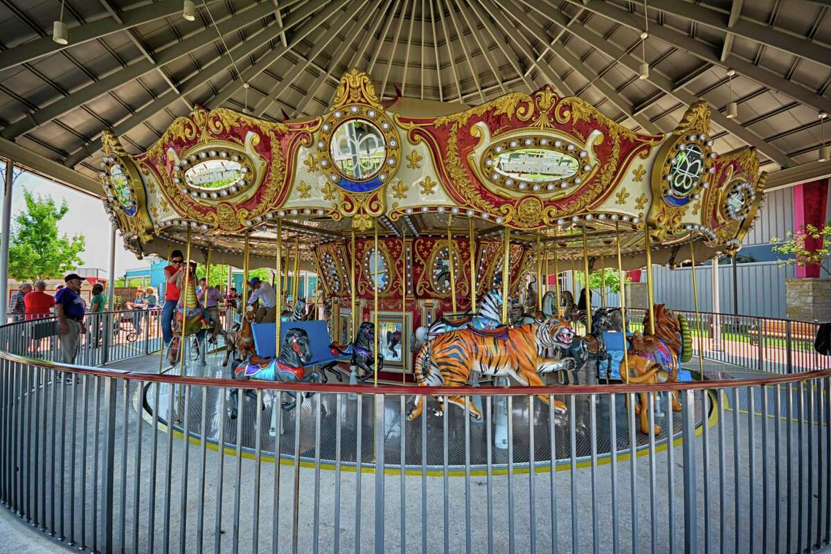 The Morgan's Wonderland carousel was designed for riders of all abilities. Guests will self-screen this year.