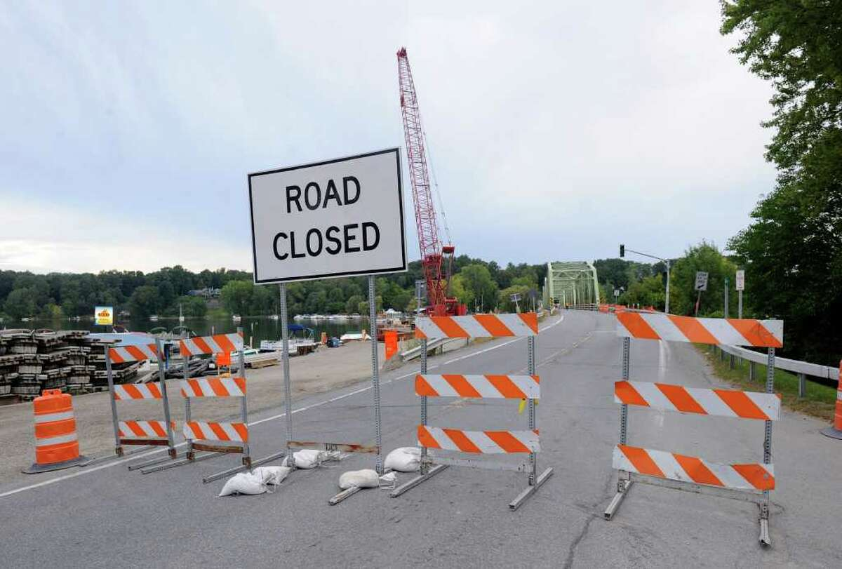The Route 9P bridge on the north end of Saratoga Lake closed Tuesday and will be replaced. The new bridge will be built over the winter and is scheduled to open next Memorial Day. (Skip Dickstein / Times Union)