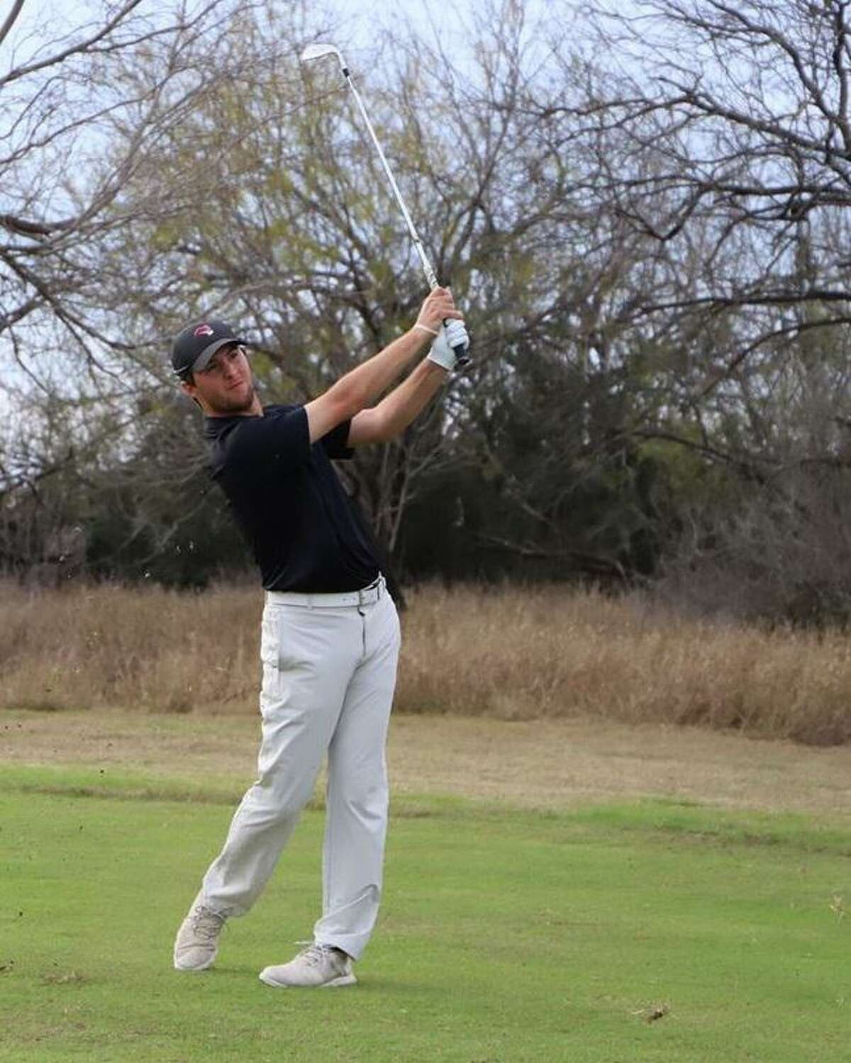 TAMIU's Parker Holekamp shot a three-under 141 to take the lead after the first day of the Jack Brown Memorial Invitational at the Laredo Country Club.
