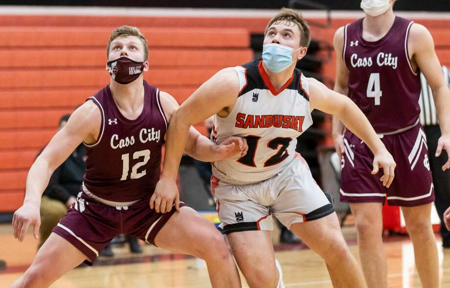 The Sandusky Redskins handed the Cass City boys basketball team a heartbreaking, last-second loss on Monday night. Sandusky won, 47-45, in the season opener for both teams. Photo: Kaitlin Gunsell, Kaitlin's Klicks/For The Tribune / Kaitlin's Klicks