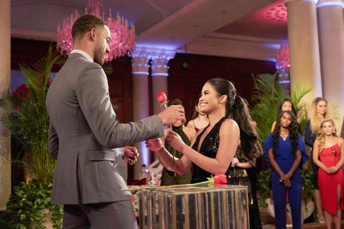 THE BACHELOR - 2504 Still reeling from Sarahs sudden departure, Matt fights his tendency to put up walls as his journey continues with the 18 remaining women vying for his heart. Emotions in the house continue to run high, leading to a trash-talking face-off between Victoria and Katie, and even former Bachelor Ben Higgins and Bachelor Nation favorite Wells Adams cant diffuse the drama as things get physical on two group dates. Chelsea takes the opportunity to get real with Matt about her journey to self-love, and Chris Harrison drops a bombshell that will change the course of the season on The Bachelor, airing MONDAY, JAN. 25 (8:00-10:00 p.m. EST), on ABC. (Craig Sjodin via Getty Images) MATT JAMES, JESSENIA