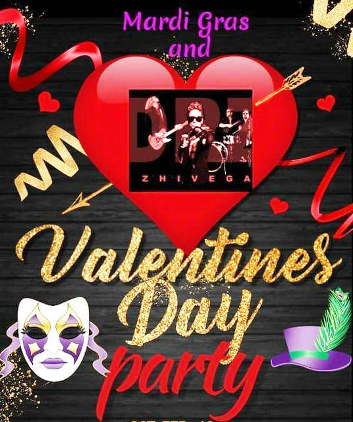 Stick around in Alton Saturday for a combo Valentine's Day/Mardi Gras soiree 8 p.m. to midnight at 3rd Chute Bar and Grill II, 2204 Fosterburg Road. Join the gang for one of the such bashes in the Riverbend, with Dr. Zhivegas in the evening and DJ Karaoke with RNR Entertainment on the Boat Bar 2 to 6 p.m., when there also will be drink specials. And gumbo soup will be available for purchase all day.