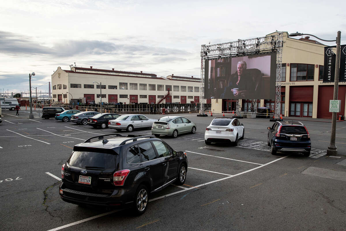 View of Fort Mason Center during the 2021 Sundance Film Festival's satellite screening series arranged by Roxie Theater on January 31, 2021 in San Francisco, California. The Sundance Film Festival is going virtual this year due to the COVID-19 pandemic.