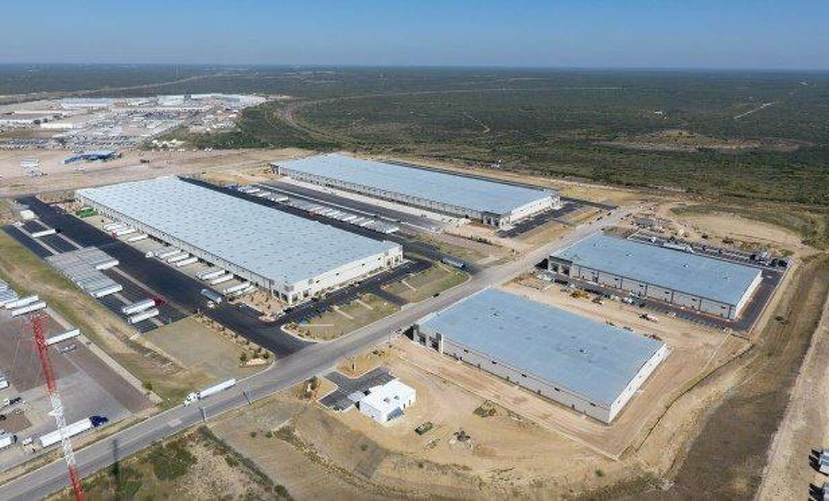 Shown is some of the warehousing completed in phase 1 of the Port Grande project, occupied by Source Logistics and other companies.
