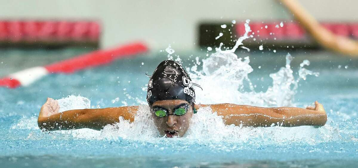 Katia Guerrero, a senior at The John Cooper School, won the 200 freestyle at the SPC South Zone championships.