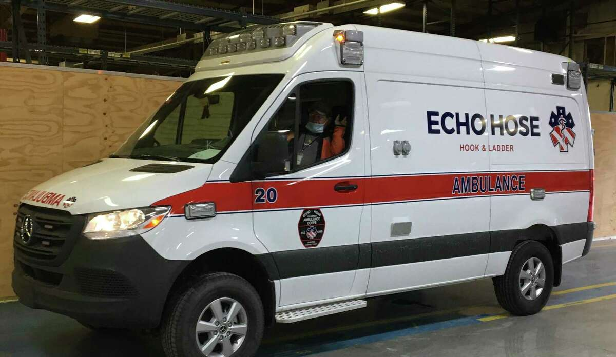 Echo Hose Ambulance recently replaced a 2009 Ford Van ambulance with a 2019 Mercedes 4x4 Sprinter, costing $111,000, pictured above.