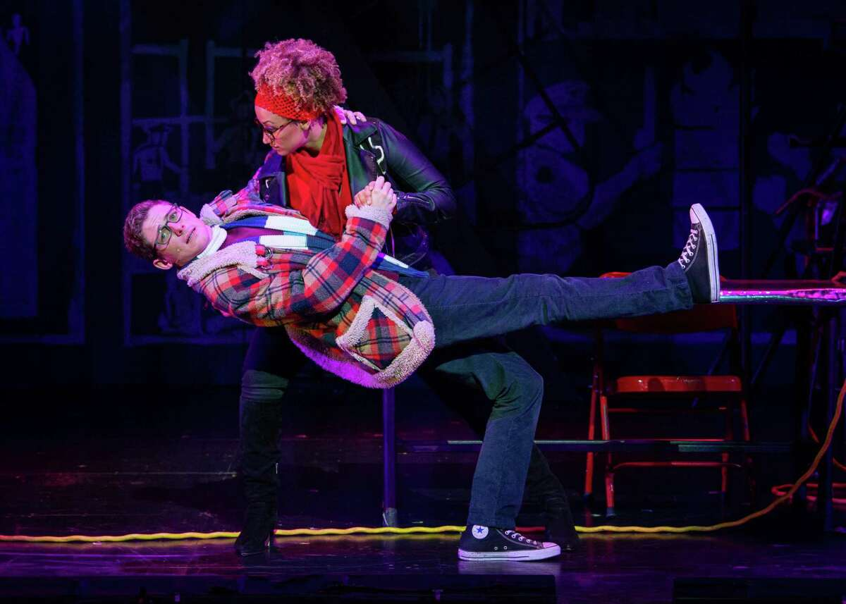 """Cody Jenkins and Samantha Mbolekwa dance the """"Tango: Maureen"""" in """"Rent,"""" which is returning to the Majestic Theatre during the 2021-22 season of the Broadway in San Antonio series."""