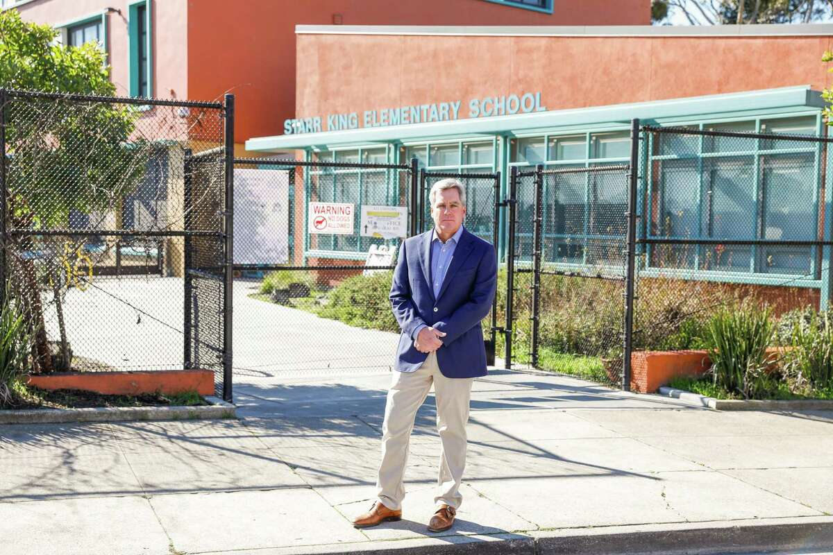 City Attorney of San Francisco Dennis Herrera stands for a portrait outside Starr King Elementary School on Friday.