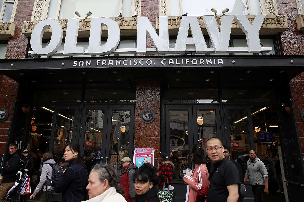 A view of the Old Navy store on Market Street in San Francisco.