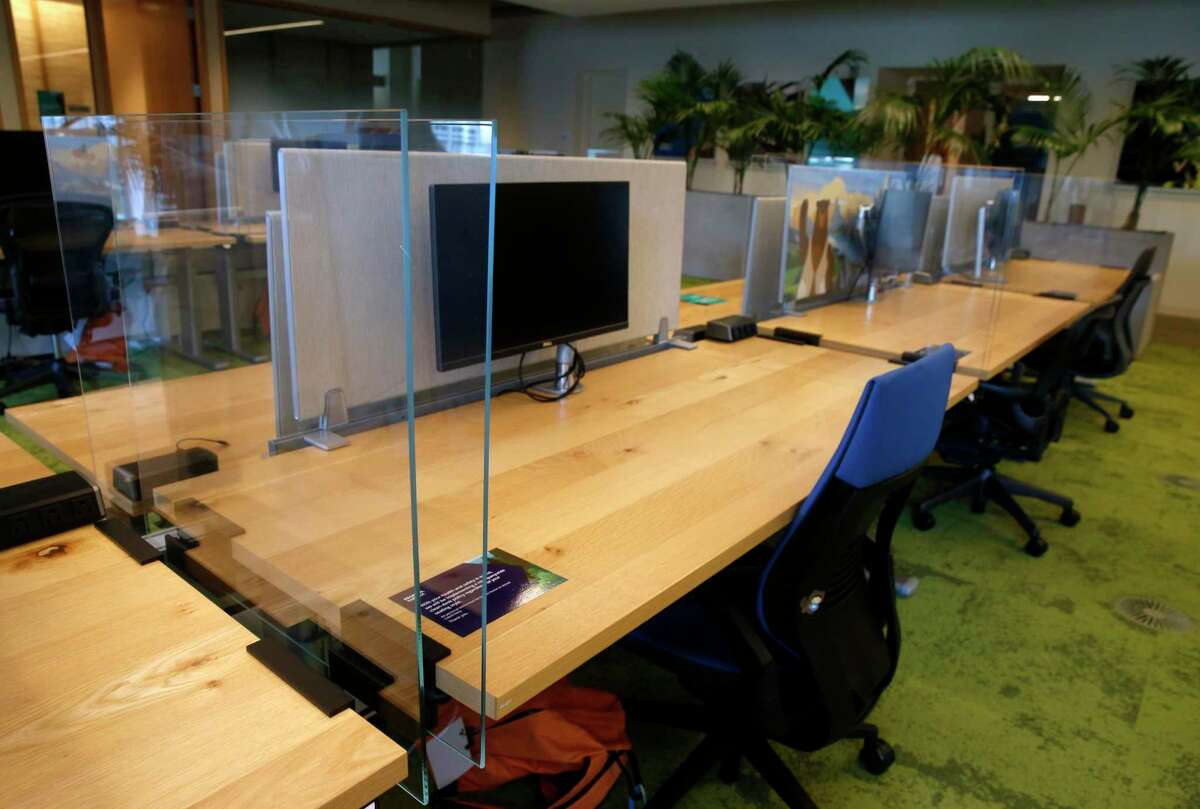 Salesforce had worked on reopening one of its offices with plexiglass partitions, but those plans were delayed as the coronavirus pandemic worsened.