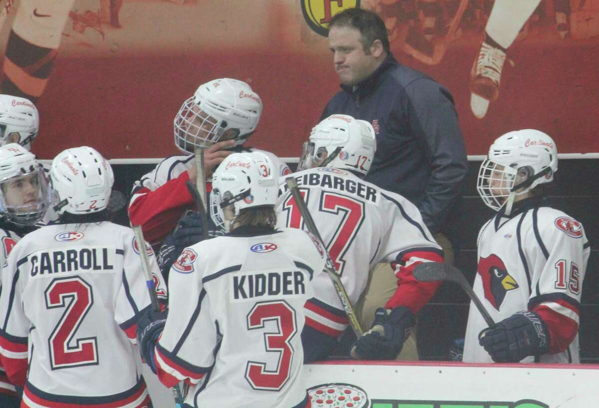 Tim Blashill and the hockey Cardinals are home on Saturday. (Pioneer file photo)