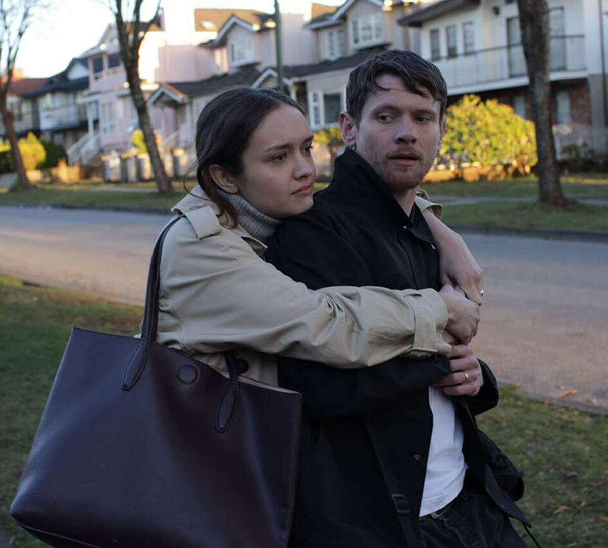 Olivia Cooke, left, and Jack O'Connell try to hold on to the memories in