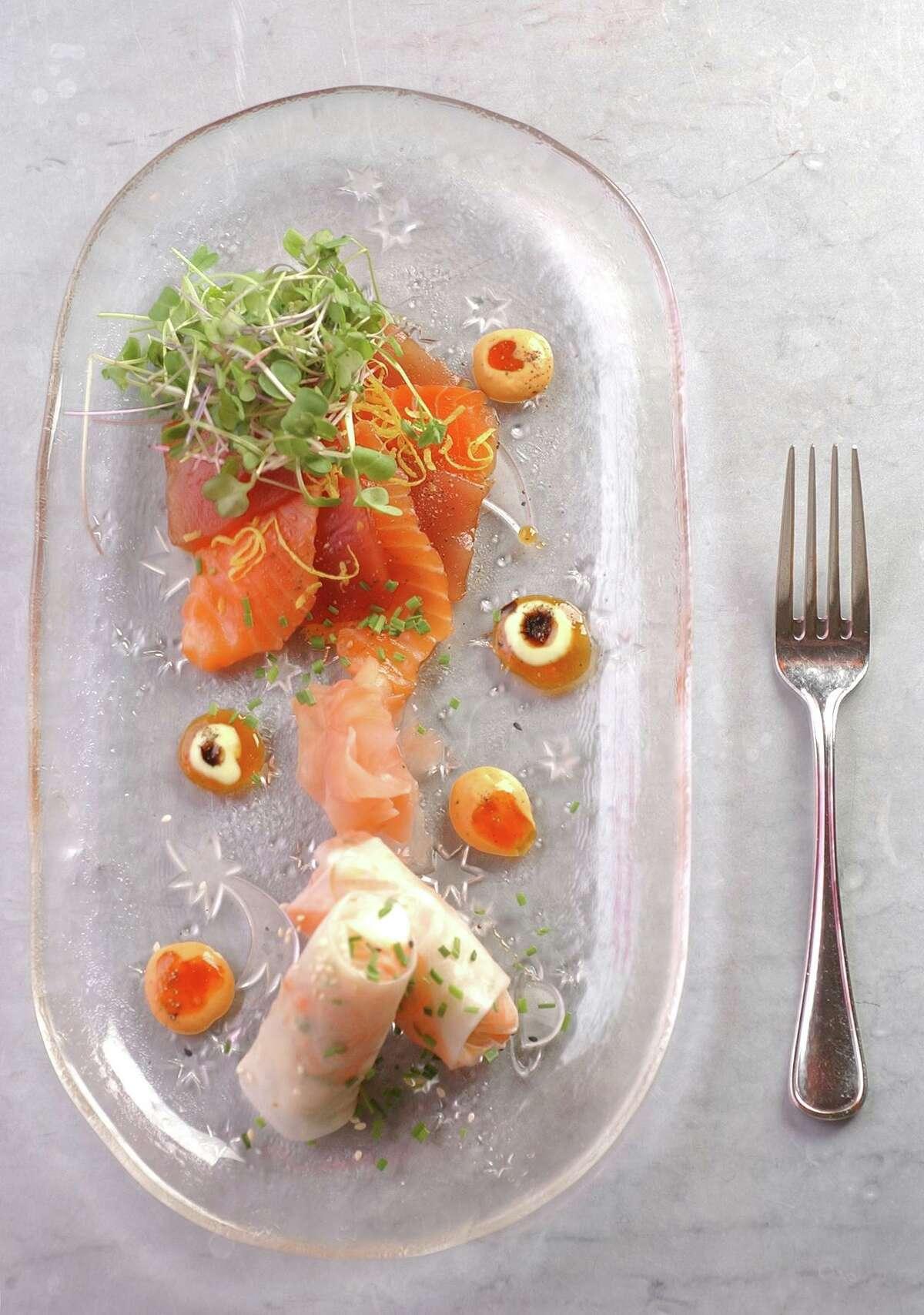A sashimi plate at Zinc, New Haven