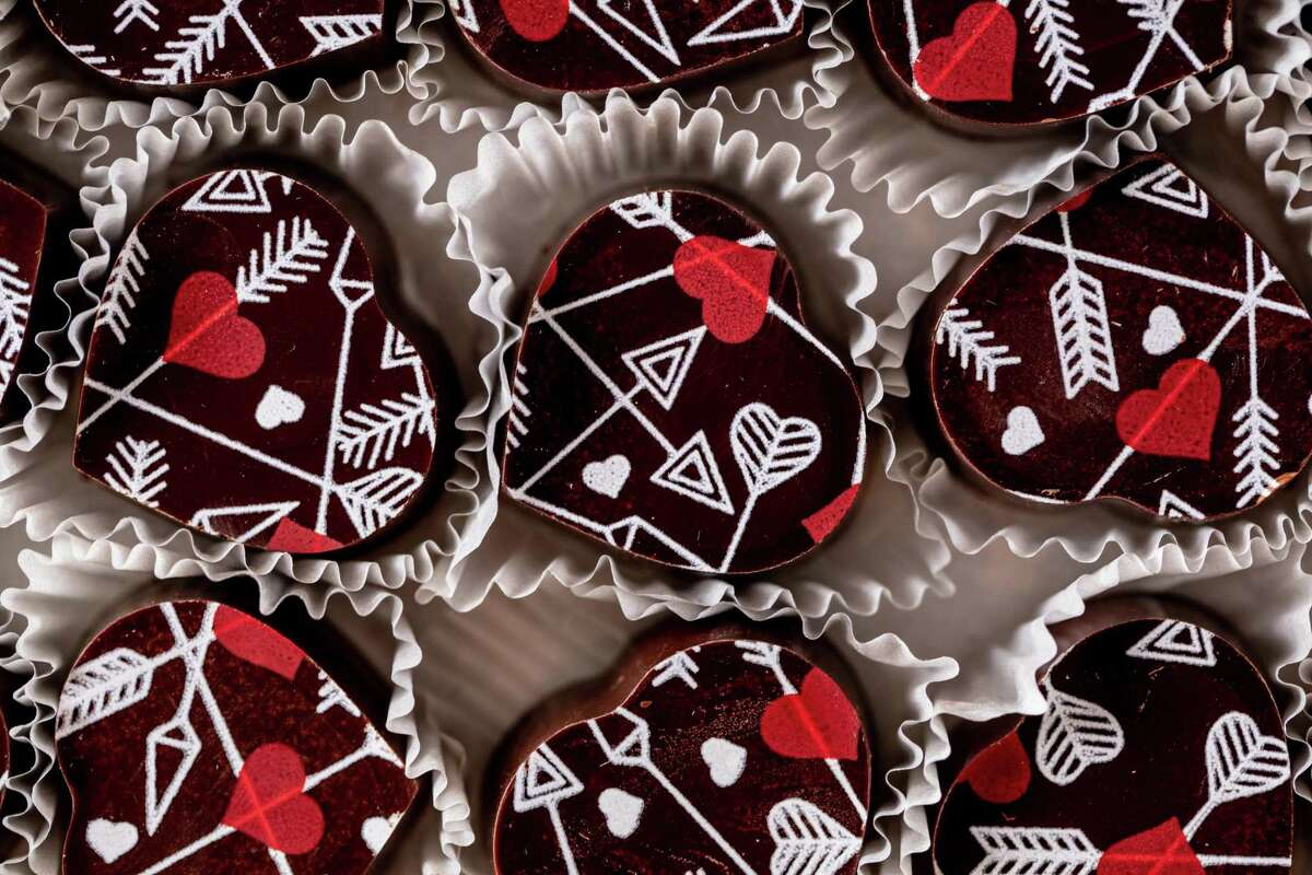 Kokak Chocolates sells chocolates with ornate patterns in San Francisco's Castro district.
