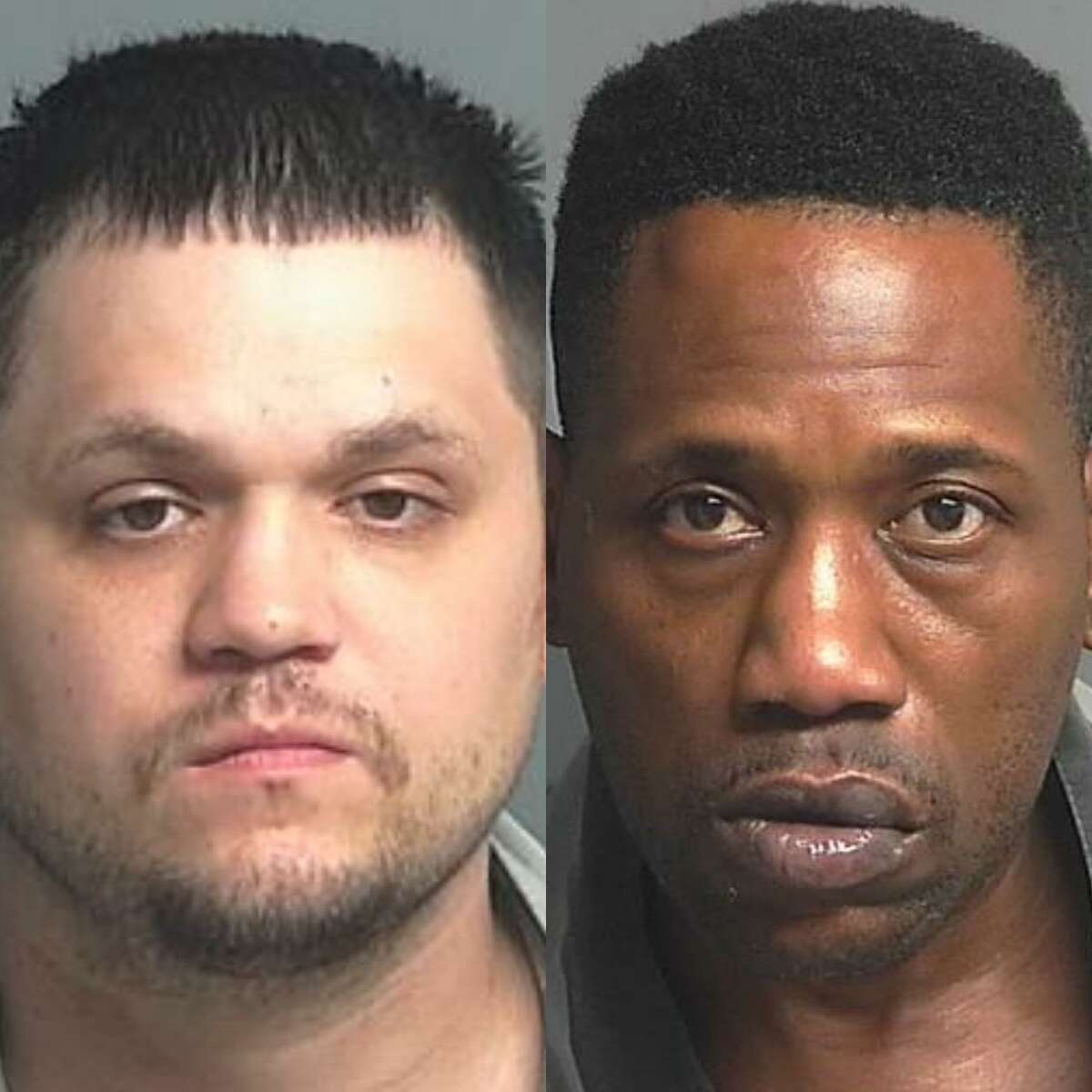 Joshua Albert Regalado, 29, of Richmond, left, and Jamin Renfroe, 45, of Cordova, Tenn., right, are charged with promotion of prostitution, a third-degree felony.