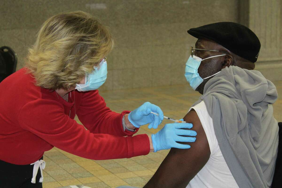 Fifty individuals 75 and older received their COVID-19 vaccine Tuesday morning at Cross Street AME Zion Church in Middletown, as part of an effort to inoculate older members of the congregation.