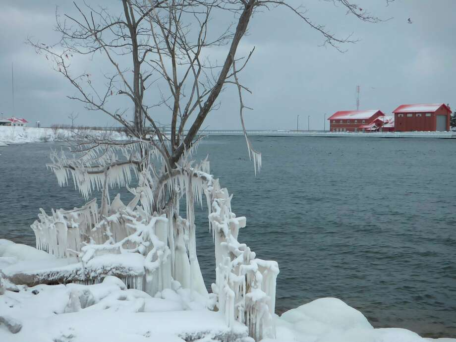 Water levels on the Great Lakes have begun to dip and are expected to fall below record or near record highs seen in recent years. (Scott Fraley/News Advocate)