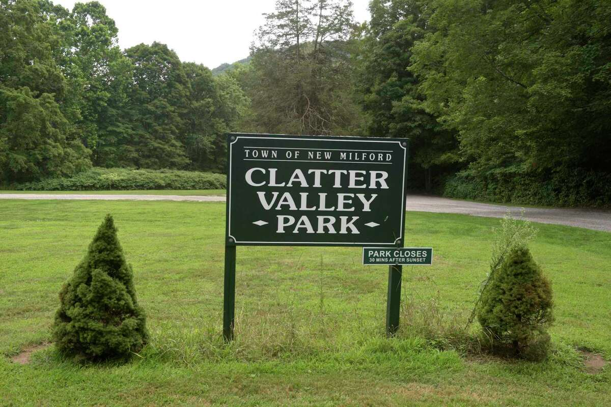 Clatter Valley Park in New Milford. The town is stepping up enforcement of two more local parks, Clatter Vally and Carlson's Grove. Part of it includes police officers and the town's park ranger patrolling the parks and enforcing the requirement that people from out of town get park passes. Wednesday, August 7, 2019, in New Milford, Conn.