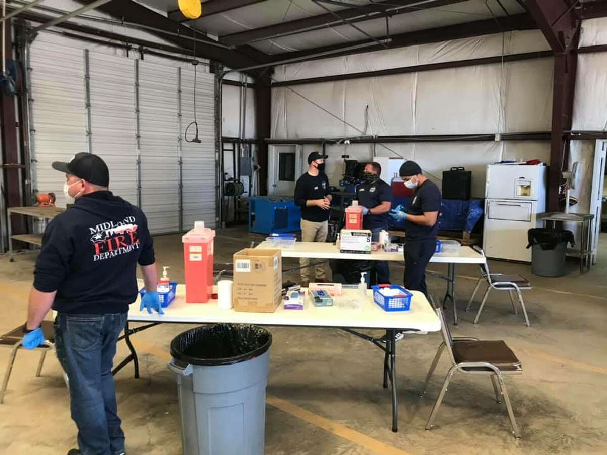 Members of the Midland Fire Department traveled Monday, February 8, 2021, to Davis with the Unified Command Team to help get COVID-19 vaccines to the rural communities around Midland.