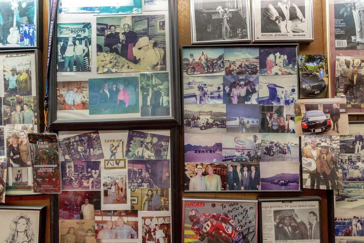 At Paris Hatters, photos of some of the famous people who have bought a hat from the business are tacked to the walls.