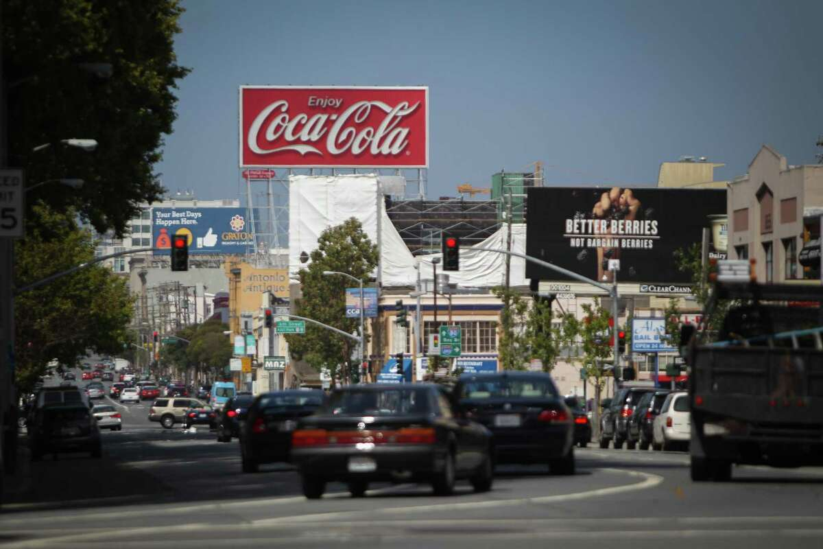 The Coca-Cola billboard on Interstate 80 near the Bay Bridge; it came down last year after 83 years.