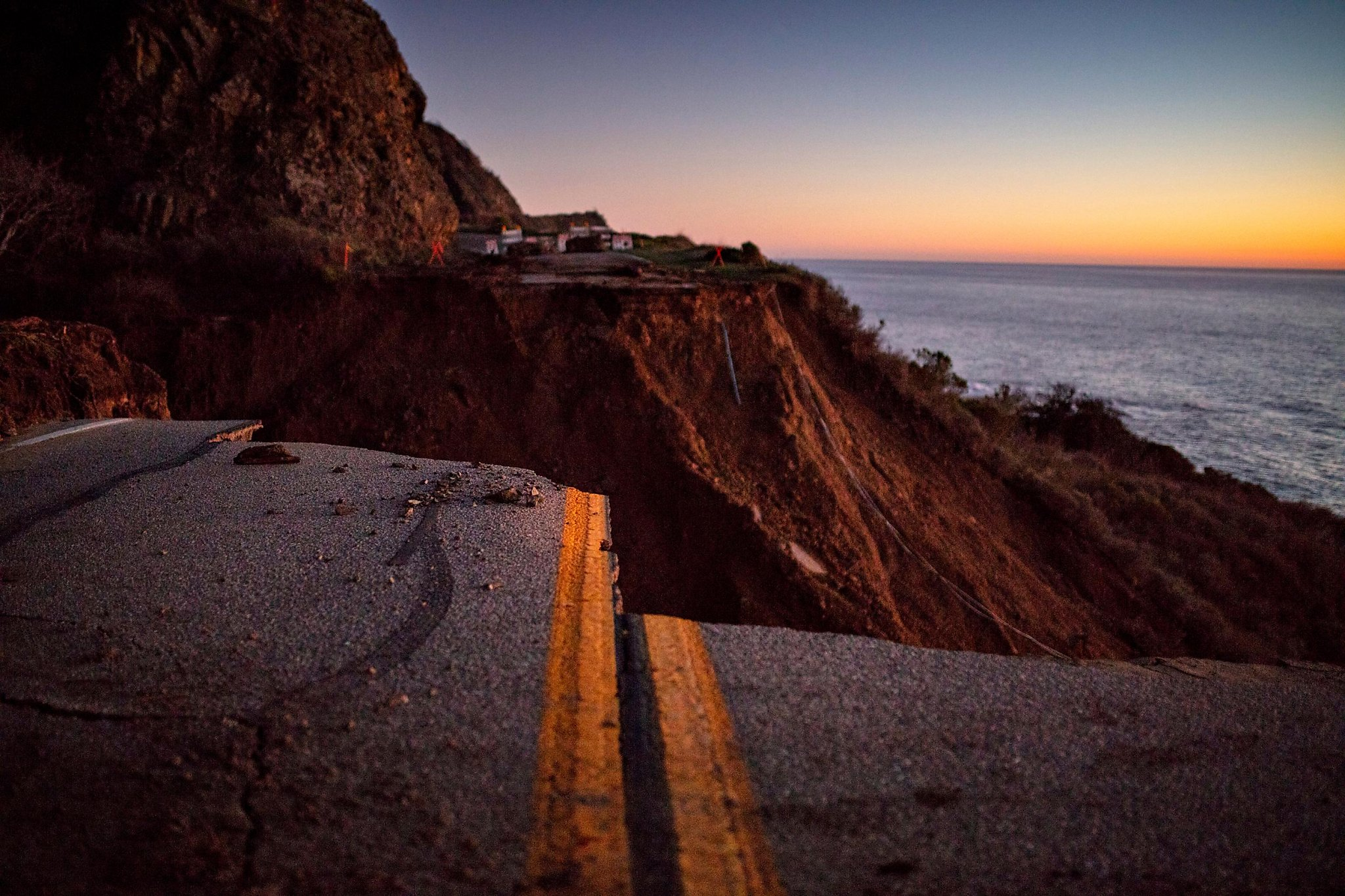 The stretch of Highway 1 that washed into the ocean will now reopen weeks ahead of schedule