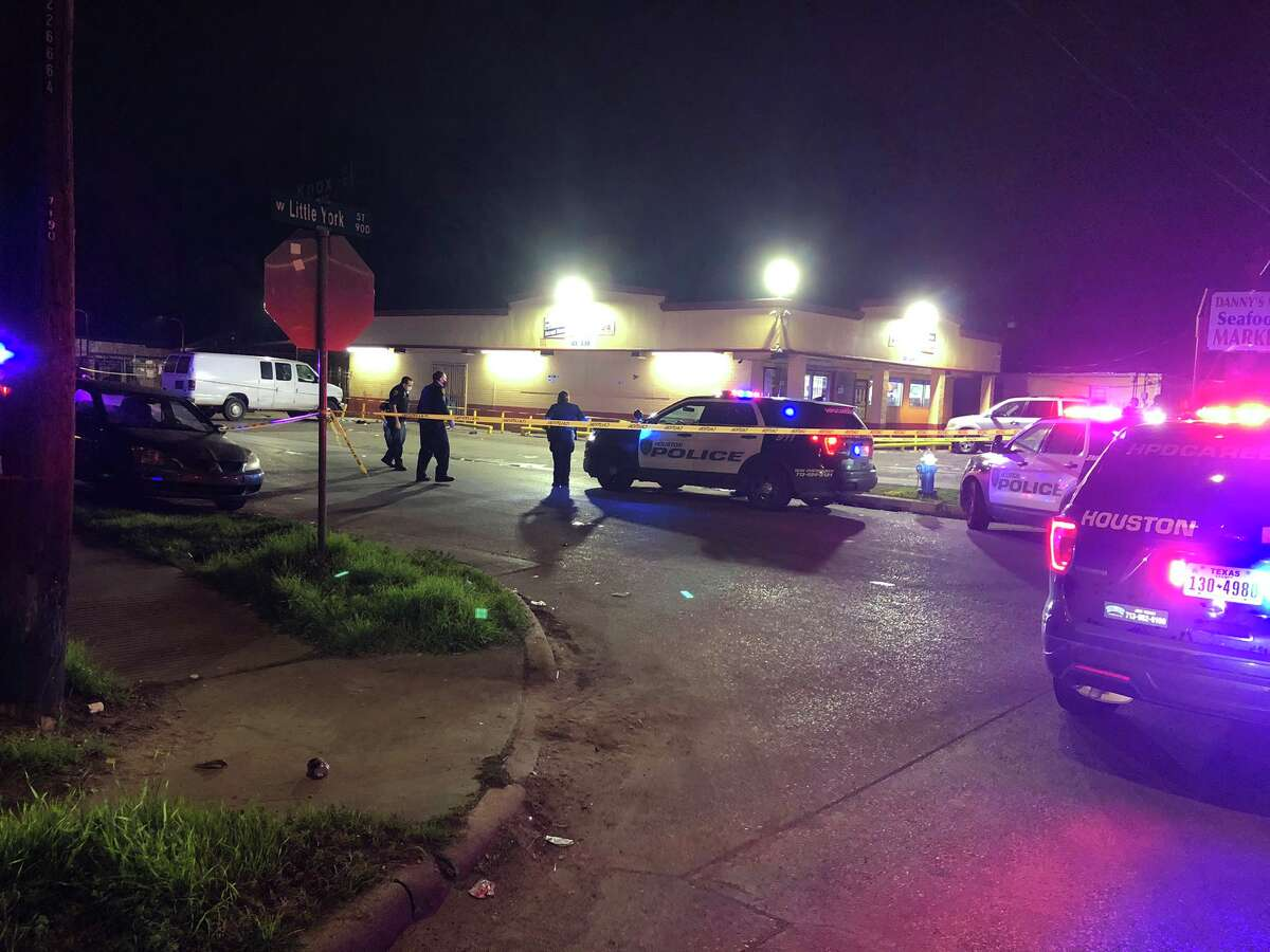 Four men were hospitalized Tuesday following a shooting in the 900 block of West Little York, police said.