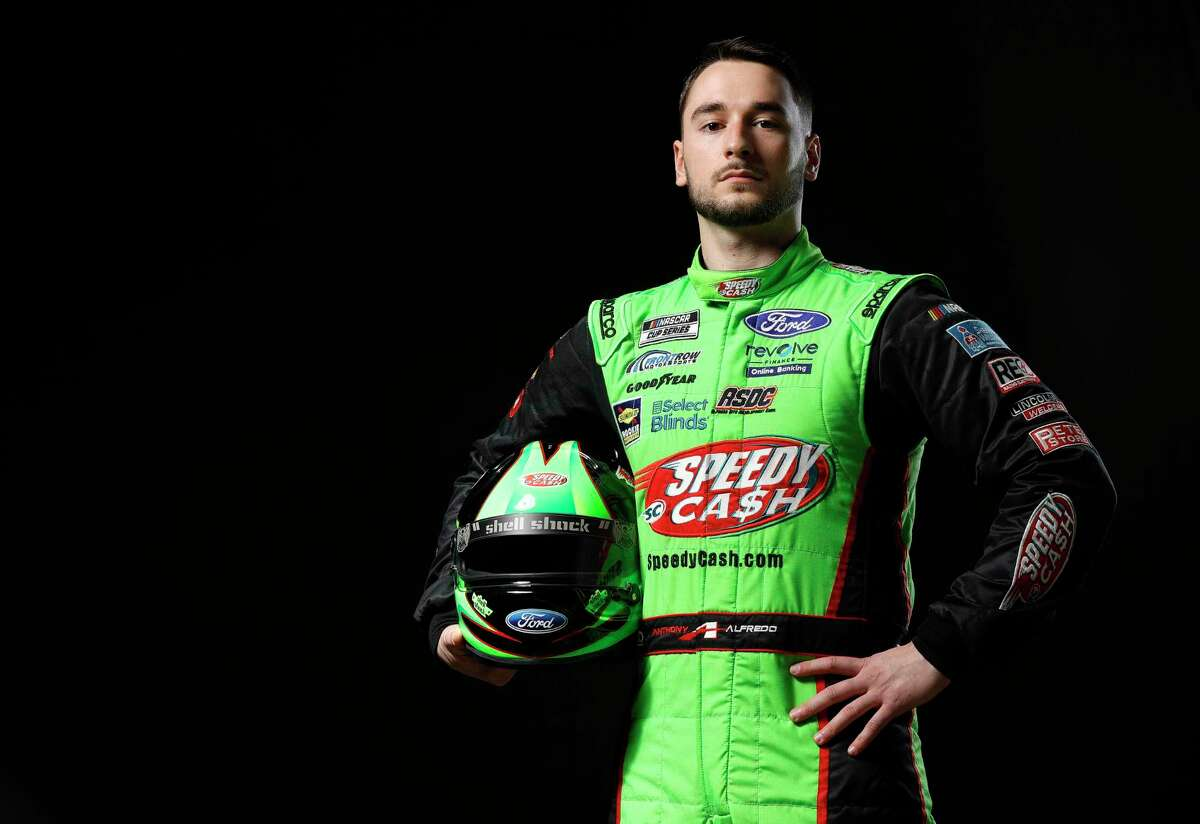 NASCAR driver Anthony Alfredo poses for a photo during the 2021 NASCAR Production Days at FOX Sports Studios on January 19, 2021 in Charlotte, North Carolina. (Photo by Jared C. Tilton/Getty Images)
